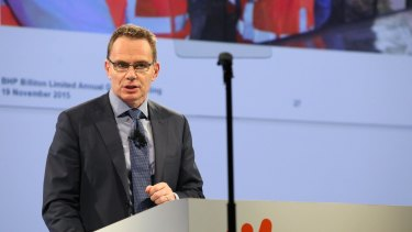 BHP chief executive Andrew MacKenzie. The BHP Billiton Foundation recently  committed  $50 million to help address the under-representation of girls and Aboriginal and Torres Strait Islander students in STEM.