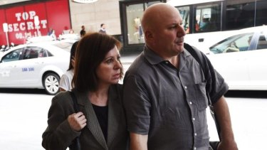 """Trifling"": Maria Butera outside the royal commission venue in Sydney on Tuesday."