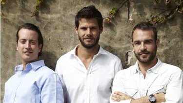 C Coconut Water founder Adam Abrams (left) with Julian Tobias and Zac Jex.