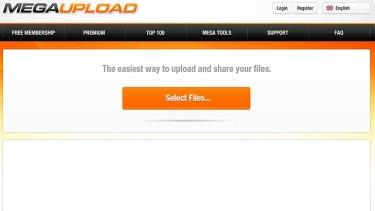 Megaupload's site.