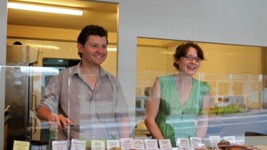Sweet and savoury ... Jack Rex and Danielle Knott with samples of their wares at Ragamuffin, which opened in December.
