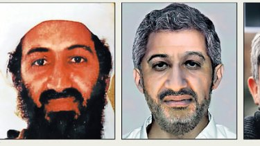 Photo shock ...  the FBI said it used  ''cutting edge'' technology to update its composite image of Osama bin Laden, left. But it turned out to be little more than cutting and pasting features of a Spanish politician, Gaspar Llamazares, right.