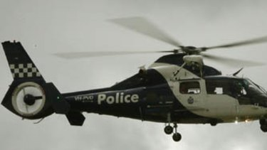 A Vic Police helicopter was used to track down an iPhone thief.