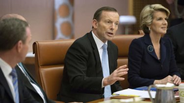 Integrating aid and foreign affairs: Prime Minister Tony Abbott and Foreign Affairs Minister Julie Bishop.