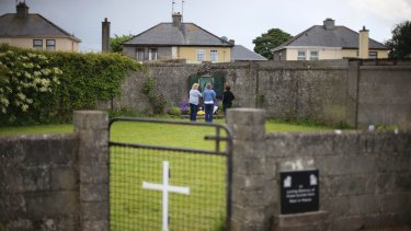The site of a mass grave for babies who died in the Tuam mother and baby home, in Ireland.