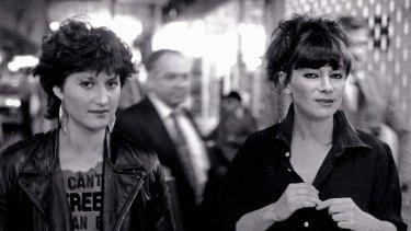 Gutsy determination ... Vera Plevnik as Jane and Julie Barry as Jackie.