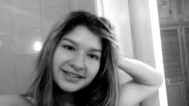 Shot dead ... diplomat's teenage daughter Karen Berendique.
