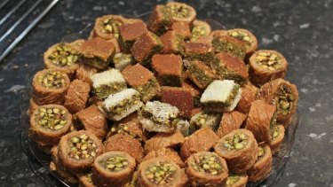 Freshly made sweets from Why Not Wooden Bakery in the meat, fish and deli hall.
