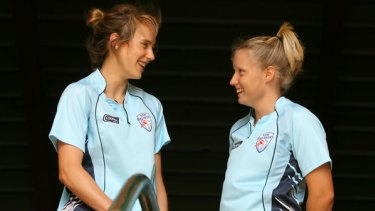 Role models ... NSW teammates Ellyse Perry and Alyssa Healy.