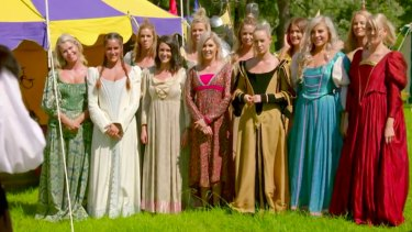 The Bachelor group date gets positively medieval.