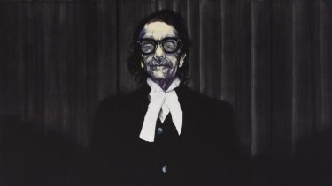 Nigel Milsom has won the 2015 Archibald Prize with his portrait of barrister Charles Waterstreet.