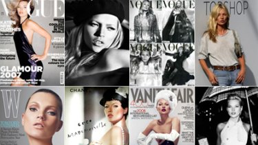Living in the 90s ... Kate Moss dominated magazine covers for a decade.