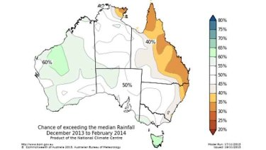Odds favour a drier-than-average summer for most of eastern Australia.