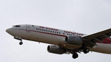An Air Algerie plane prepares to land at the Houari-Boumediene International Airport.