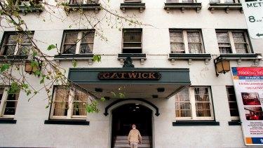 The Gatwick Hotel is on Fitzroy Street, St Kilda.