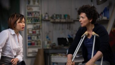 Inspired: Valerie Tian, left, and Juliette Binoche in <i>Words and Pictures</i>.