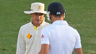 There was little humour to the exchange between Michael Clarke and James Anderson at the end of day four of the First Test match.