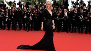 Cate Blanchett attends the <i>Sicario</i> premiere at the Cannes Film Festival, where high heels have been compulsory for many years.