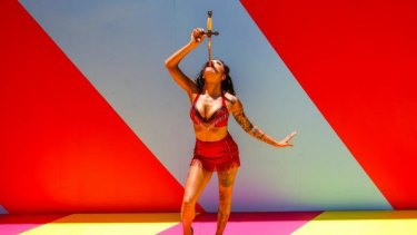 Sword swallower and fire breather Heather Holliday sets pulses racing in <i>Limbo</i>.