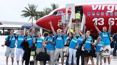 The 16 finalists arrive at Hamilton Island.