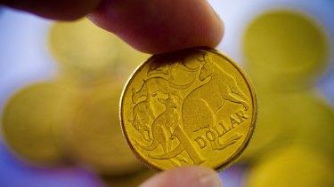The Australian dollar briefly broke through US77 cents to a three-week high.