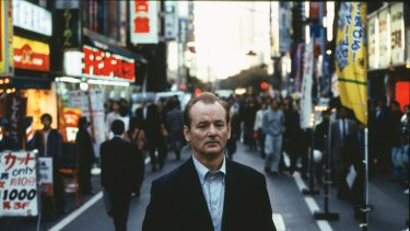 Bill Murray in the film <i>Lost In Translation</i>.