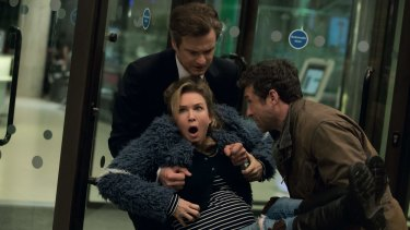 Manhandled: Colin Firth, Renee Zellweger and Patrick Dempsey in Bridget Jones's Baby.