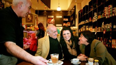 Marleen Kairouz with her parents.