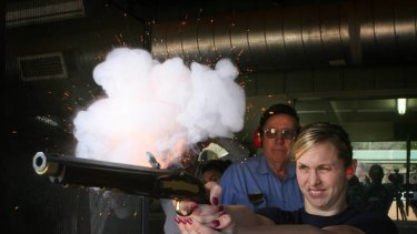 Libby Trickett at Sporting Shooter Pistol Club in Canberra in September 2007.