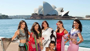Cause for celebration ... SBS celebrates the launch of their new reality TV show, <i>Bollywood Star</i> in Sydney.