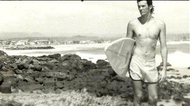 William Finnegan on the beach at Kirra, circa 1979.