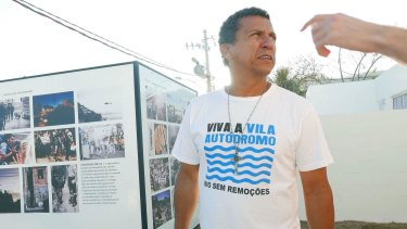 Luiz Claudio da Silva refused to move and now lives in one of the newly-built homes.