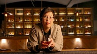 Whisky, straight. Nant Whisky Bar manager Evelyn Liong.