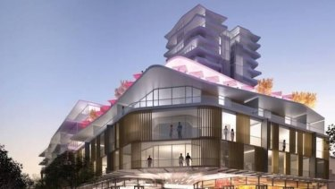 An artist's impression of a development planned for Subiaco, which the council has said is out of step with surrounds.