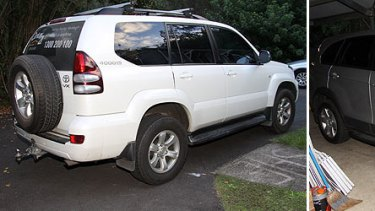 Police are interested in the movements of this Toyota Prado and Holden Captiva.