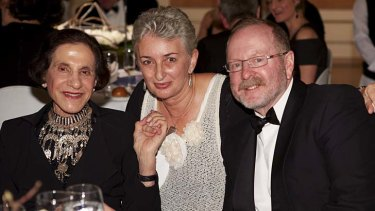 In the gallery: Marie Bashir, Judith White and John Masters.