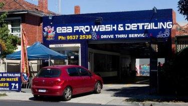 EBA Pro Wash & Detailing on Inkerman street, St Kilda.