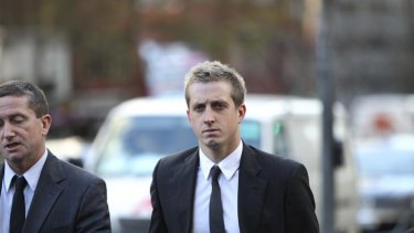 Court troubles ... swimmer Nick D'Arcy.