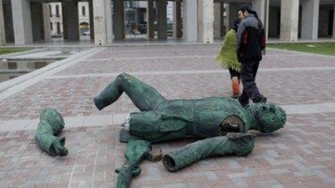 Fallen national hero: Bernardo O'Higgins.