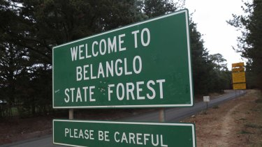 The entrance to Belanglo State Forest.