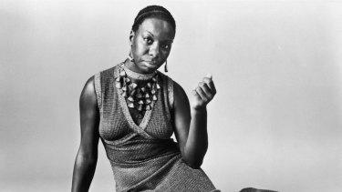 Studio portrait of American pianist and jazz singer Nina Simone.