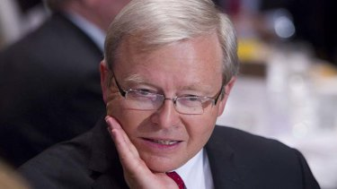 Kevin Rudd ... talked up his support for gay marriage.