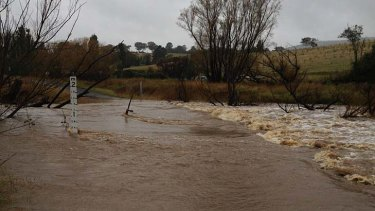Flooding in Tarana, near Bathurst.