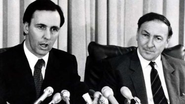 """""""Keating had wanted [John] Stone to appear beside him in the historic press conference that followed. He had to make do with Bob Johnston, right."""