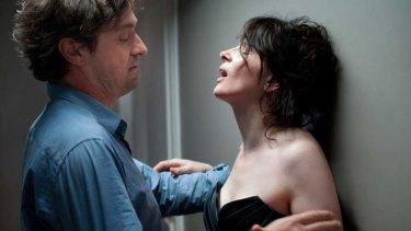 Louis-Do de Lencquesaing and Juliette Binoche in a scene from <i>Elles</i>.