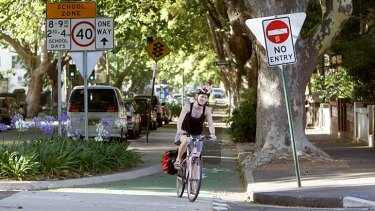 """""""In the last 3½ years the number of people cycling through central Sydney had more than doubled""""."""