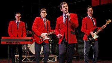 <i>Jersey Boys</i> ... Stephen Mahy (left), Bobby Fox, Scott Johnson and Glaston Toft.