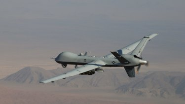 An MQ-9 Reaper drone, some of which been used for air strikes in Libya in the past.