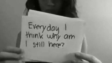 Cry for help ... Amanda Todd.