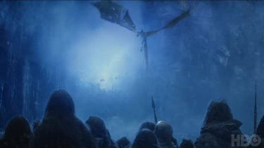 Game of Thrones finale ... the Army of the Dead are marching past the wall.